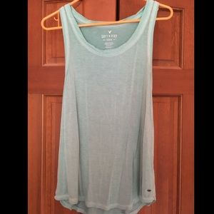 American Eagle Soft & Sexy Teal Tank Top